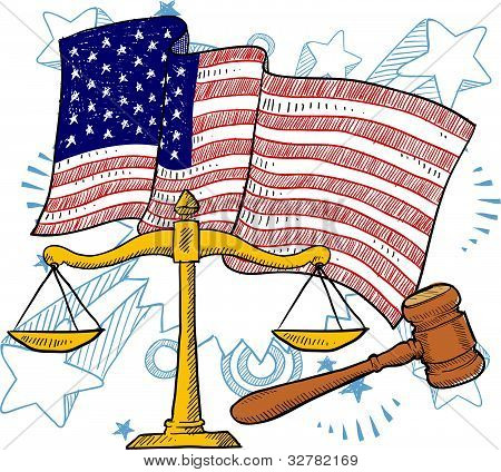 American justice illustration
