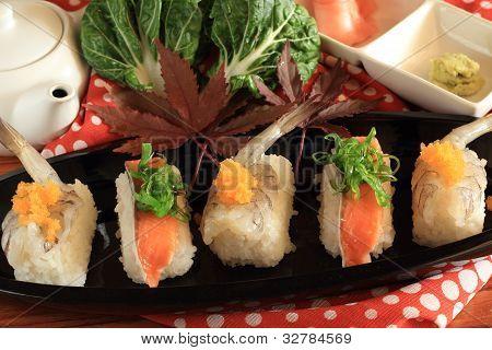 Salmon Maki Sushi.