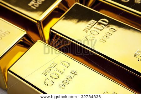 Gold, money and financial concept