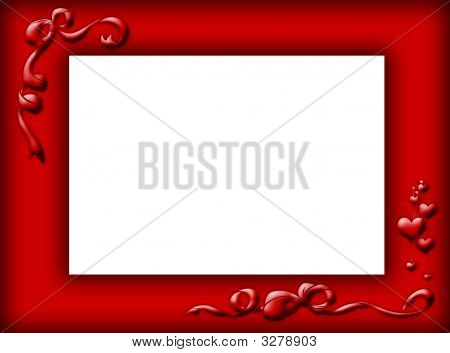Red Border With Bows And Hearts