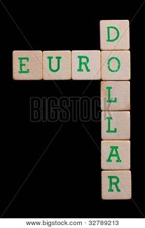 Letters On Wooden Blocks (euro, Dollar)