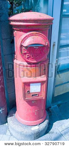 Old Japanese Red Postbox