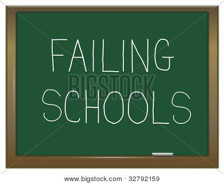 Failing Schools Concept.