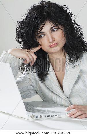 Businesswoman Unconvinced