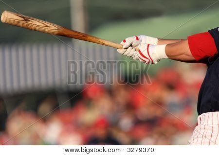 Swinging At A Pitch