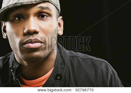 African American man wearing hat