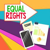 Handwriting Text Writing Equal Rights. Concept Meaning Equality Before The Law When All Showing Have poster