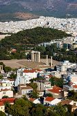 picture of olympian  - Temple of Olympian Zeus Athens Greece  - JPG