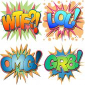 image of laugh out loud  - A Selection of Comic Book Abbreviations and Acronyms - JPG