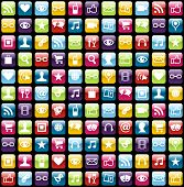picture of antenna  - Smartphone app icon set seamless pattern background - JPG