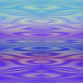 Fluidly Symmetric Ornamental Gradient Ultramarine Texture With Linear Moire Effect. Abstract Contemp poster