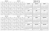 stock photo of august calendar  - colorful calendar for 2012  - JPG