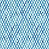 Watercolor Stripe Plaid Seamless Pattern. Colorful Teal Blue Stripes Background. Watercolour Hand Dr poster