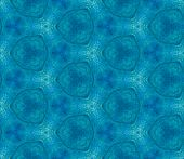 Blue Spring Allover Seamless Pattern. Hand Drawn Watercolor Ornament. Outstanding Repeating Tile. Fe poster
