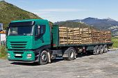 Truck Transporting Logs