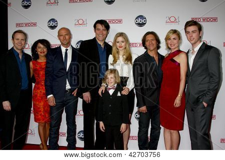LOS ANGELES - FEB 26:  Cast arrives at the ABC's 'Red Widow' event at the Romanov Restaurant Lounge on February 26, 2013 in Studio City, CA