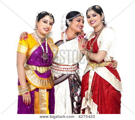 Three Pretty Indian Female Dancers