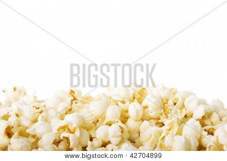 Popcorn border isolated on white