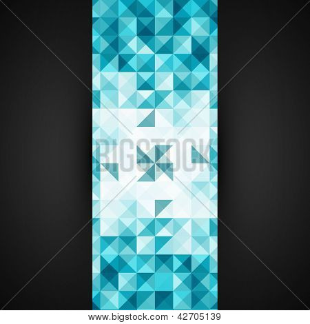 Blue Abstract Geometrical Background Template | Mosaic Vector Illustration | Modern Layout