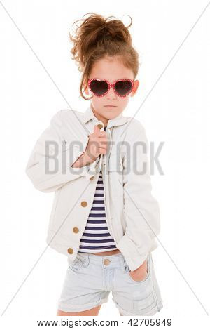 cool fashionable fashion kid with attitude
