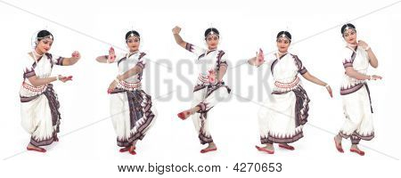 Pretty Female Odissi Dancer From India