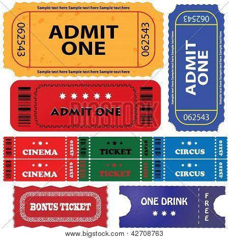 Tickets In Different Styles