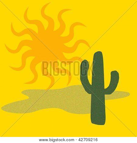 desert cactus art