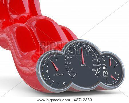 Speedometer. 3D Model