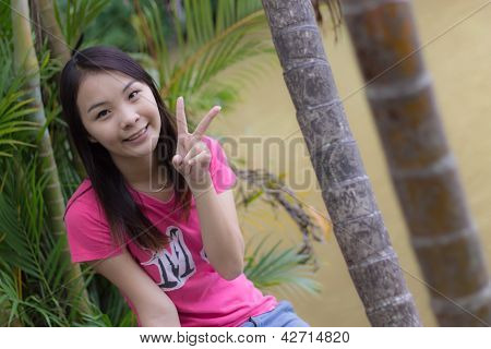Beautiful Girl At Lagoon