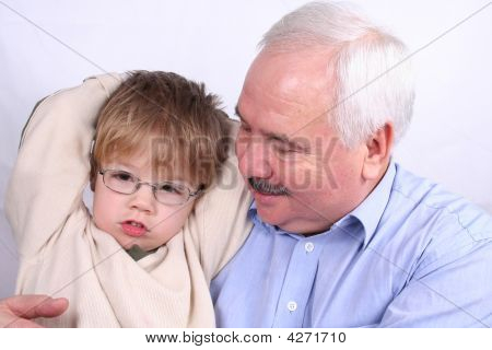 Grandfather And Grandson Together