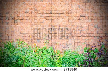 Background of stone wall texture, grunge