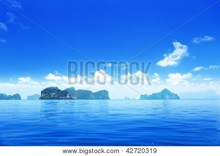 islands in Andaman sea Thailand