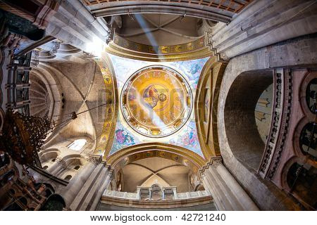 Greek Chapel of the Church of Holy Sepulchre in Jerusalem, Israel