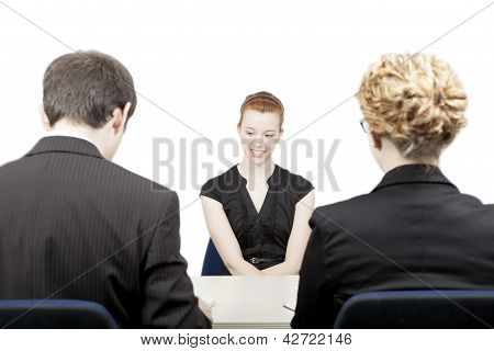 Personnel Officers Interviewing A Candidate