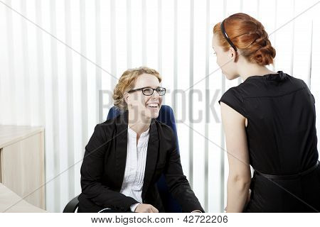 Business Colleagues Having A Chat
