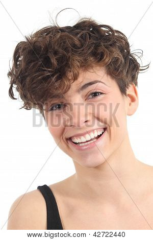 Beautiful Woman With A Perfect Smile