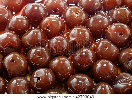 Background Of Organic Cherries