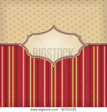 Retro Background With Texture And Frame