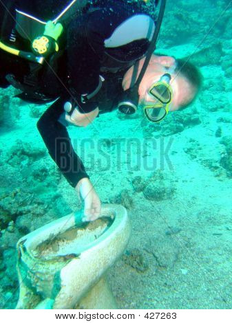 Diver And Toilet