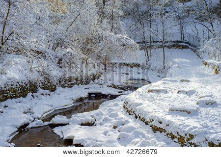 Winding Minnehaha Creek, Winter