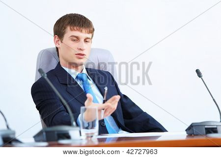Businessman at meeting