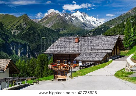 Tirol Alps Landscape In Austria With Grossglockner Mountain