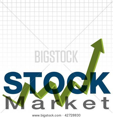 An image of a stock market background.