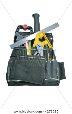 Tools In Tool Belt Bag