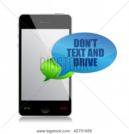 Do Not Text And Drive Cell Bubble Message