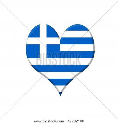 Greece Heart.