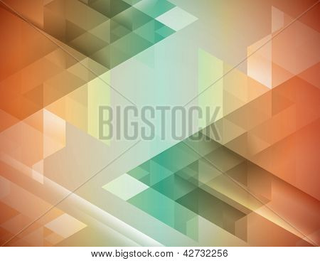 Cool color transparent background in green and orange.