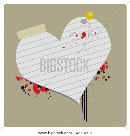 Grungey Valentine Banner