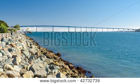 Fragment of Embarcadero Marina Park, San Diego, California.
