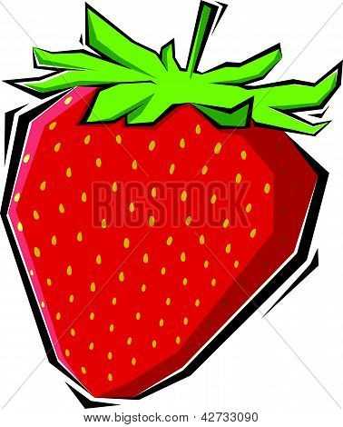 strawberries vector illustration